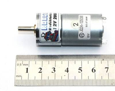 12V 25MM 200Rpm Redüktörlü DC Motor
