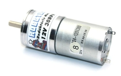 12V 25MM 30Rpm Redüktörlü DC Motor - Thumbnail