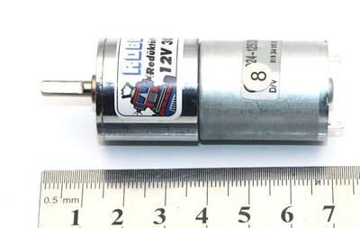 12V 25MM 30Rpm Redüktörlü DC Motor