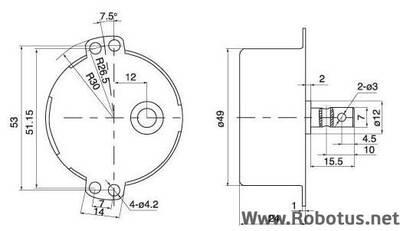 220V 5 Rpm AC Senkron Motor