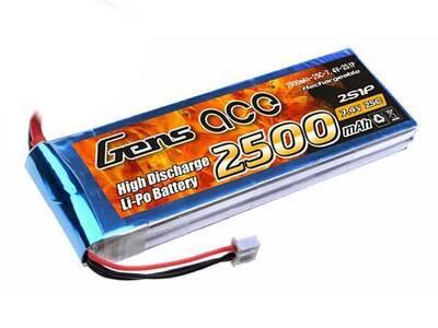2500mAh 7.4V 25C 2S LiPo Batarya | Lipo Pil