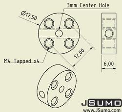 3mm Hub Adaptör - 2 Adet - Thumbnail