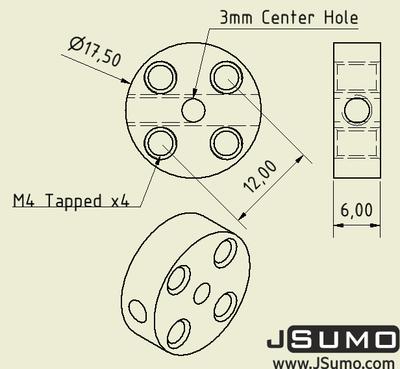 3mm Hub Adaptör - 2 Adet
