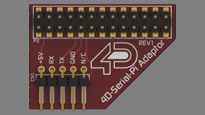 4D Raspberry Adaptör Shield