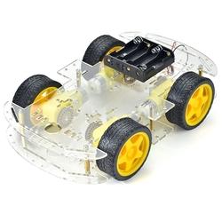- 4WD Çok Amaçlı Mobil Robot Platformu - Şeffaf