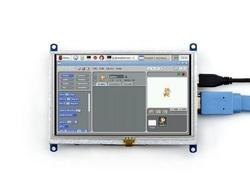 5'' HDMI Rezistif Dokunmatik LCD Ekran - 800x480 (B) - Thumbnail
