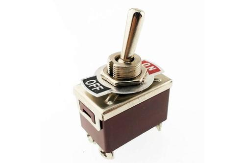 Büyük Boy On-Off Toggle Switch (125V 15A 4 Bacak)