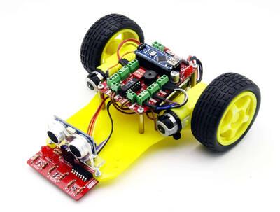 DuoBot Çizgi İzleyen ve Engelden Kaçan Robot (Demonte Montajsız)