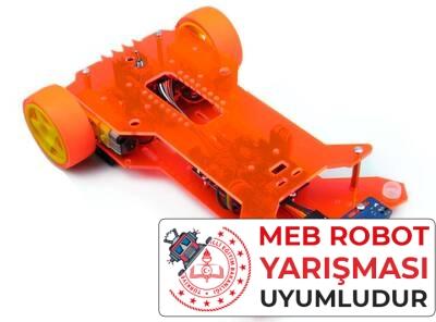 Flash Çizgi İzleyen Robot Kiti - MEB Temel Seviye Uyumlu (Demonte Montajsız)
