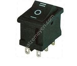 - Geniş Işıksız Anahtar 6P (ON-OFF-ON)