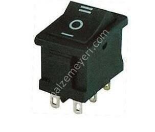 Geniş Işıksız Anahtar 6P (ON-OFF-ON)