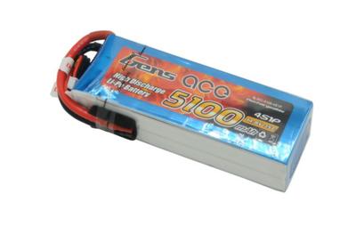 Gens Ace 5100mAh 14.8V 35C 4S LiPo Batarya | Lipo Pil