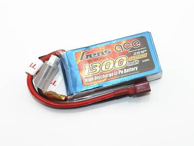GensAce 1300mAh 7.4V 25C 2S LiPo Batarya | Lipo Pil