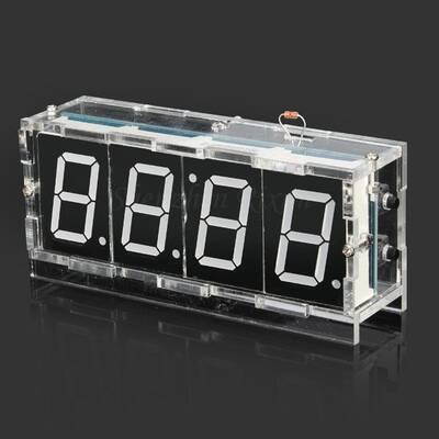Kendin Yap Masa Saati - Sıcaklık Sensörlü - Beyaz