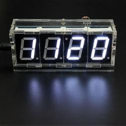 - Kendin Yap Masa Saati - Sıcaklık Sensörlü - Beyaz