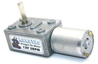 Kingpin 12V 5 Rpm Redüktörlü Dc Motor