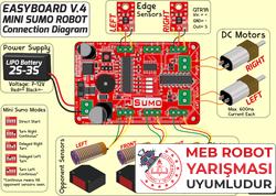 M1 Mini Sumo Robot Kiti - Rokartlı (Montajlı) - Thumbnail