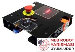 MEB Caretta Robot Kiti - Caretta Yumurta Toplama Robotu Pleksiglass Gövde (Demonte) - Thumbnail