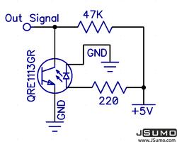 ML1 Kızılötesi Çizgi Sensörü - 2 Adet - Thumbnail