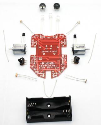 RoBİBİ Işık İzleyen Robot Kiti (Demonte Montajsız)