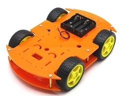 - ROBOMOD 4WD Mobil Robot Kiti - Turuncu
