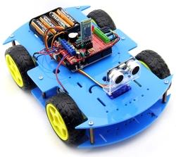 Jsumo - ROBOMOD Bluetooth Kontrollü Arduino Araba - Mavi (Demonte Montajsız)