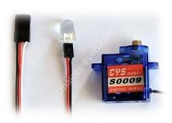 S0009 9g Mini Digital Metal Dişli Servo Motor - Thumbnail