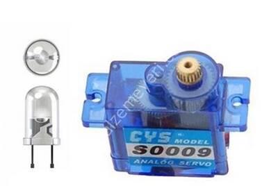 S0009 9g Mini Digital Metal Dişli Servo Motor