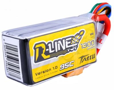 Tattu 1300mAh 14.8V 95C 4S1P R-Line LiPo Batarya