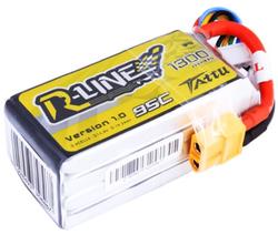 Tattu 1300mAh 14.8V 95C 4S1P R-Line LiPo Batarya - Thumbnail