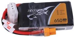 - Tattu 650mAh 7.4V 75C 2S1P LiPo Batarya