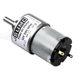 Titan 12V 200 Rpm Redüktörlü Dc Motor - Thumbnail