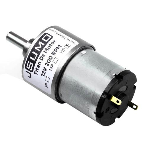 Titan 12V 200 Rpm Redüktörlü Dc Motor