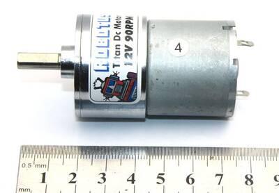 Titan 12V 90 Rpm Redüktörlü Dc Motor