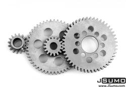 Jsumo - Ultra İnce Çelik Dişli Seti(0.8 Modül - 9:1 Düşürme)