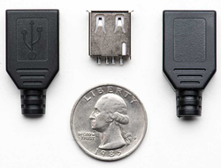 - USB A Tipi Kılıflı Soket (Dişi)